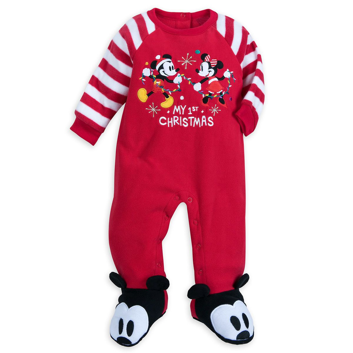 Disney Mickey and Pluto Boys 4T Fleece Footed Blanket Pajama Sleeper