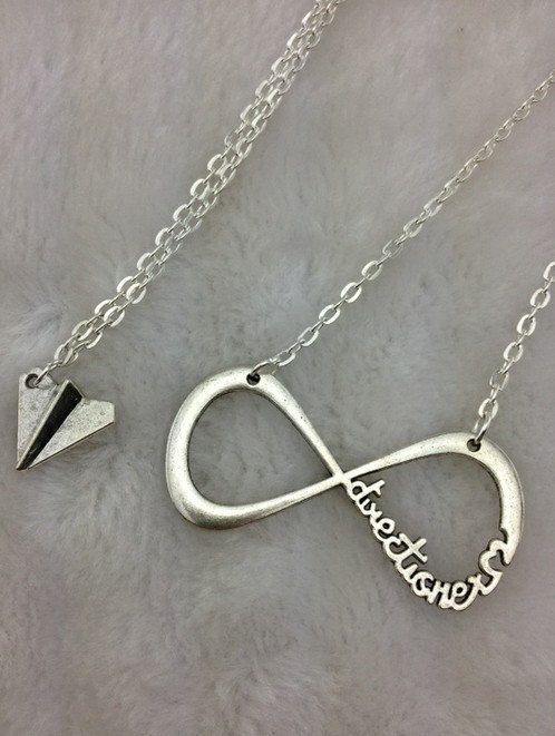 One Direction Infinity Necklace Amp Paper Airplane Necklace Harry Styles Charm Paper Airplane Necklace Harry Styles Paper Airplane Necklace Airplane Necklace