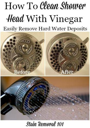 Marvelous How To Clean Shower Head With Vinegar
