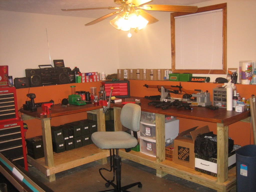 Image Of Garage Work Bench Currently Building The Garage