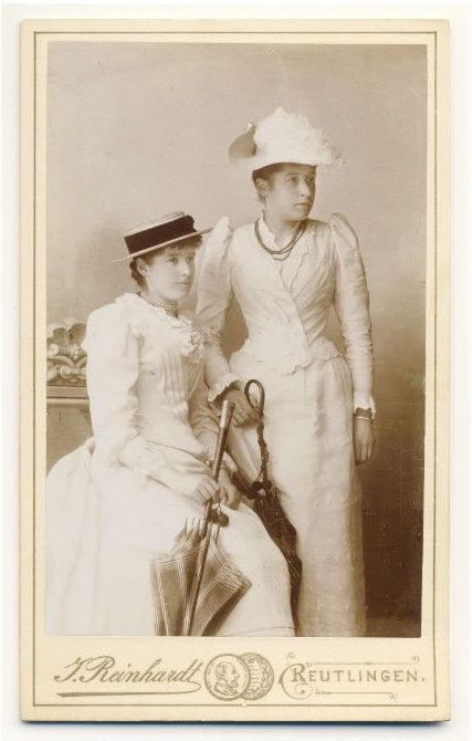 +~+~Antique Photograph~+~+  Sisters ca. 1890
