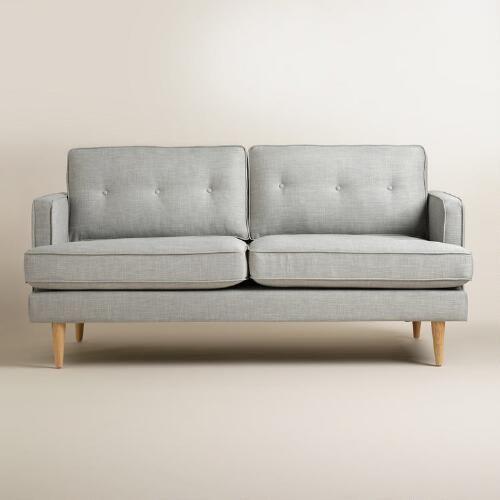 Dove Gray Woven Apel Sofa World Market Best Sofa Sofa
