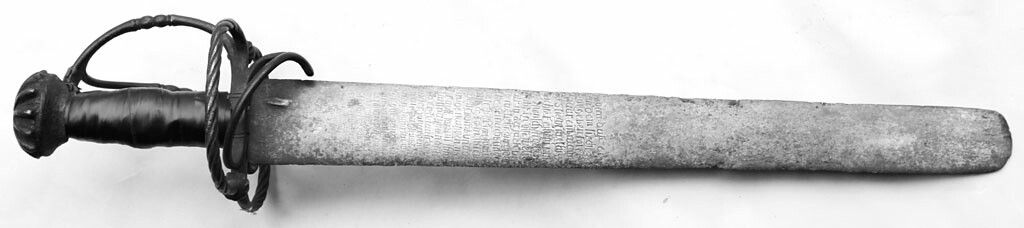 A Katzbalger Translated As Cat Gutter In Reference To The Vicious Close Quarter Fighting It Was Best Used For With A Poem Etched Into The Blade Sverd
