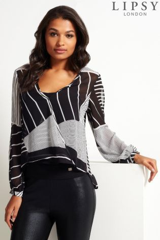 90b96b1516c006 Buy Lipsy Stripe Wrap Blouse from the Next UK online shop
