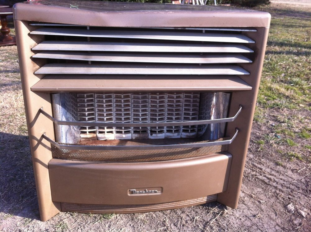 Vintage dearborn btu natural gas space room heater with for Natural gas heating options