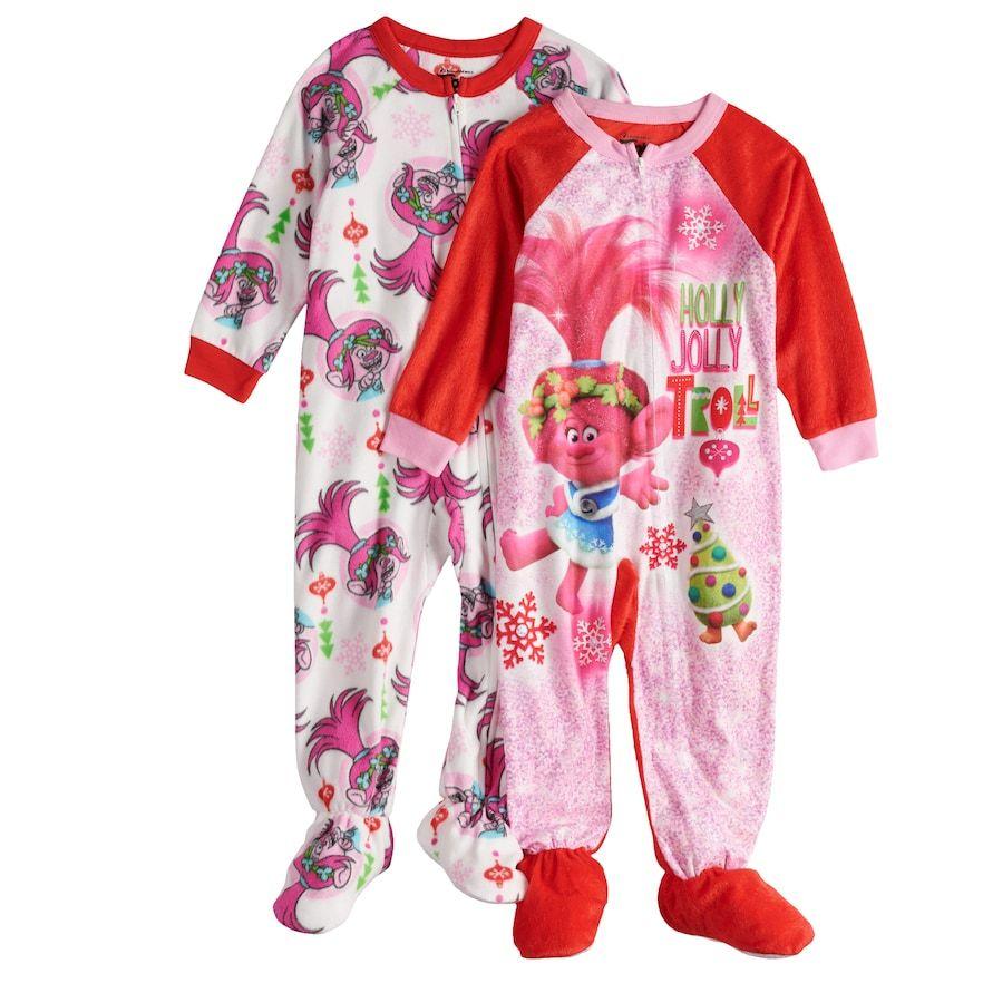 Trolls Little Pony Girls Blanket Sleeper