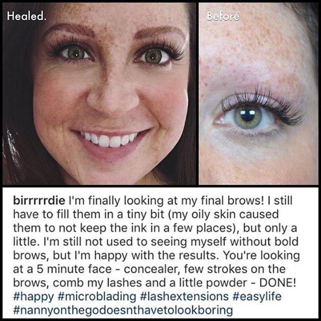 HEALED and HAPPY❣️ 404-348-4456 #atlanta #heidicosmetictattoo #microblading #spcp #cpcp #microbladingatlanta  #realism #browdiaries #eyebrowtattoo #brows #hairstrokes #alopecia #eyebrows  #trichotillomania #inkedgirls #autoimmunedisease #hairloss #thyroid #drjohnconnors #changinglives @johnconnorsmdplasticsurgery