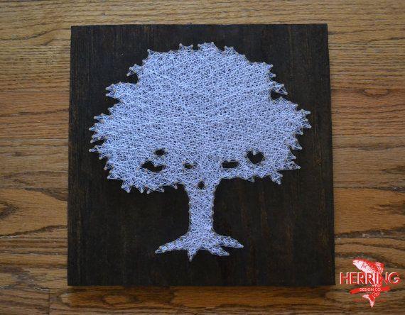 Toomer's Corner Tree String Art  Tree Nail Art  by herringdesignco