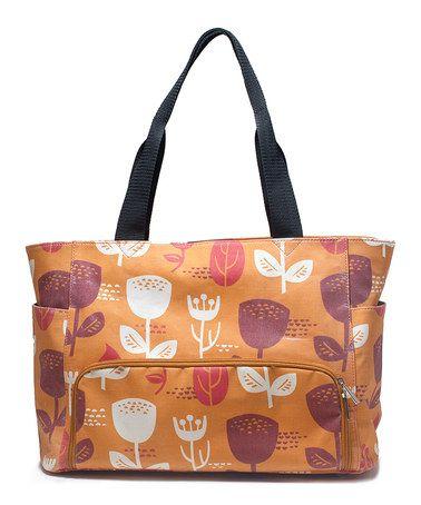 Look at this #zulilyfind! Wildflower Orange Distressed Breast Pump Bag #zulilyfinds