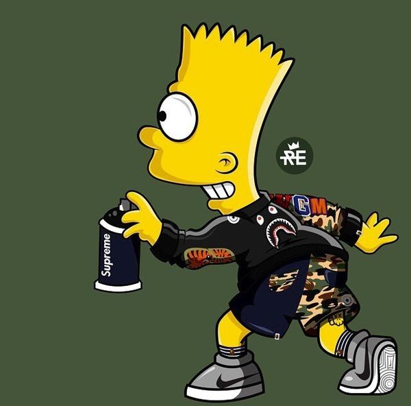 Pin By Sk 370z On Bape Supreme Bart Simpson Art Simpsons Art The Simpsons
