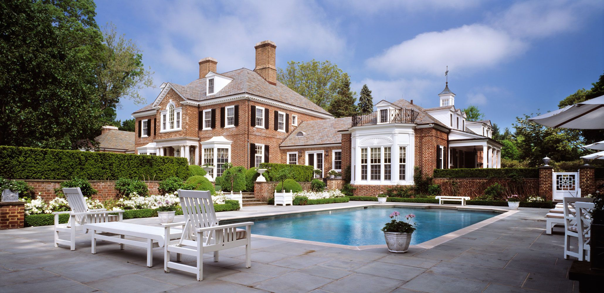 Charles hilton architects american brick georgian for Traditional american architecture