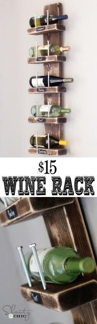 Super cute Wine Rack! #DIY