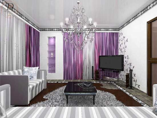 Purple Living Room purple living room accessories carameloffers Living Rooms With Purple Shiny Purple Living Room Designs Via