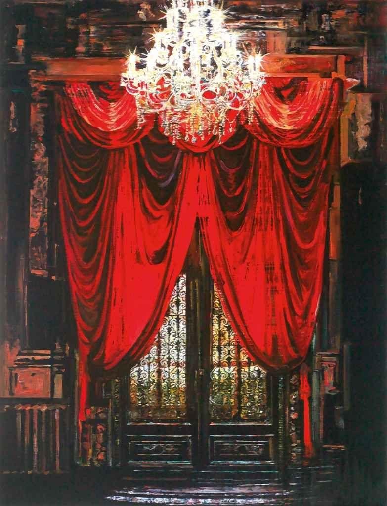 "thunderstruck9: "" Yuan Yuan (Chinese, b. 1973), Copper Door of Savings Society, 2009. Oil on canvas, 189.3 x 144.5 cm. """