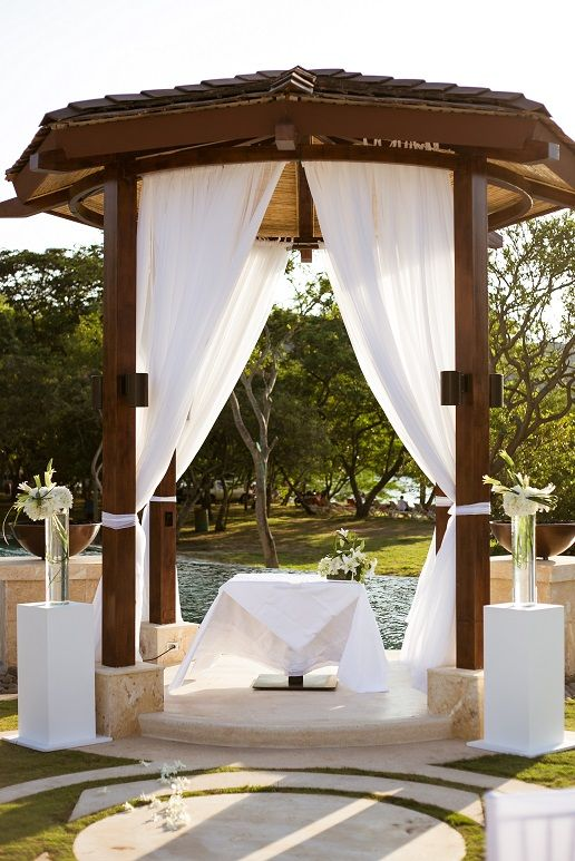 Beautiful Wedding Gazebo Set Up For Our First At Dreams Las Mareas Costa Rica
