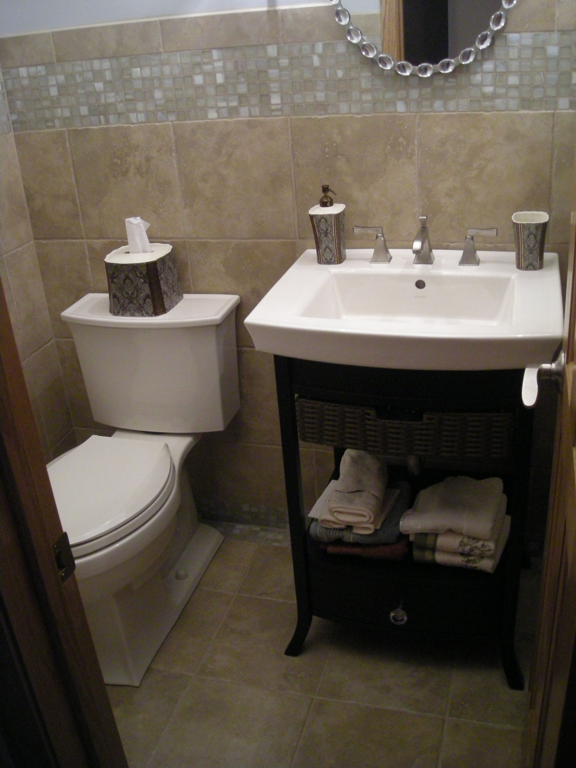 17 Best Images About Half Bath Remodel On Pinterest Toilets Vanities And Tile
