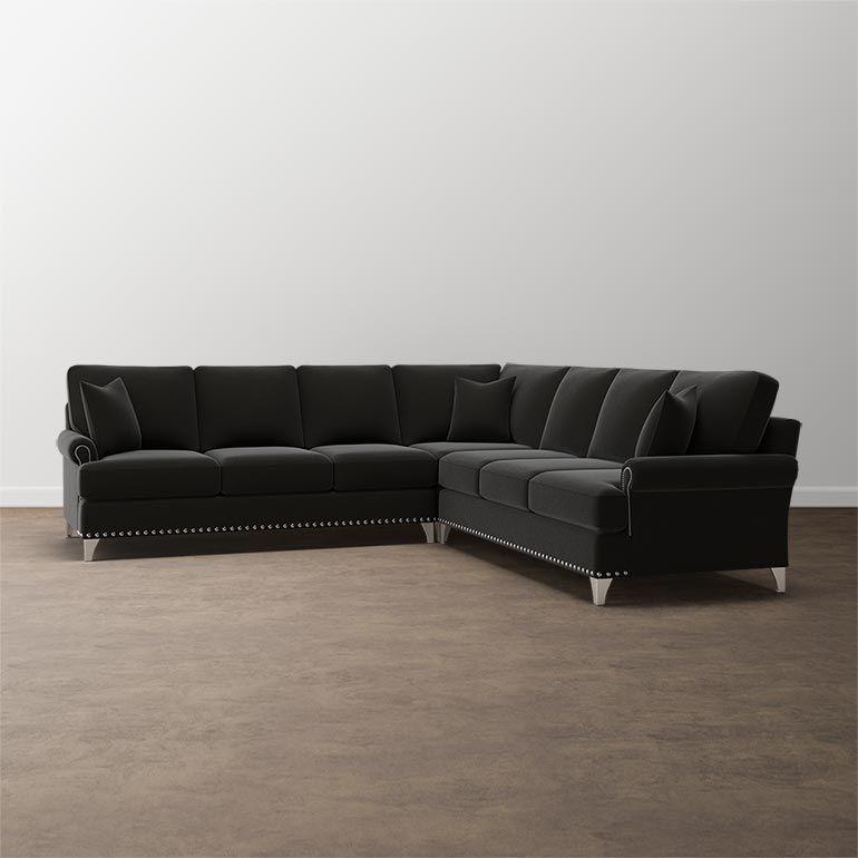 Custom Upholstery Sleeper L Shaped Sectional Sofa T Cushion