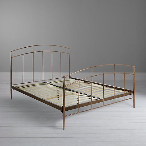 John Lewis Alexia Bed Frame, Double, Copper | Bed frame double, Bed ...