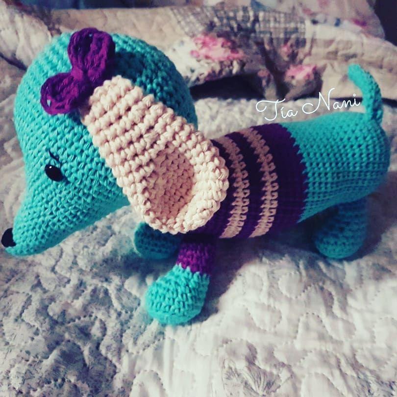 Hermosa perrita para los peques obsesionados con los perros como mi sobrina mas chica 😍😄 #perro #amigurumi #tejido #tejer #crochet #juguete #niños #jugar #peluche #dog #lindo #tierno #amor #embarazo #bebe #mama #hechoamano #argentina #cordoba #tianani #moño #color