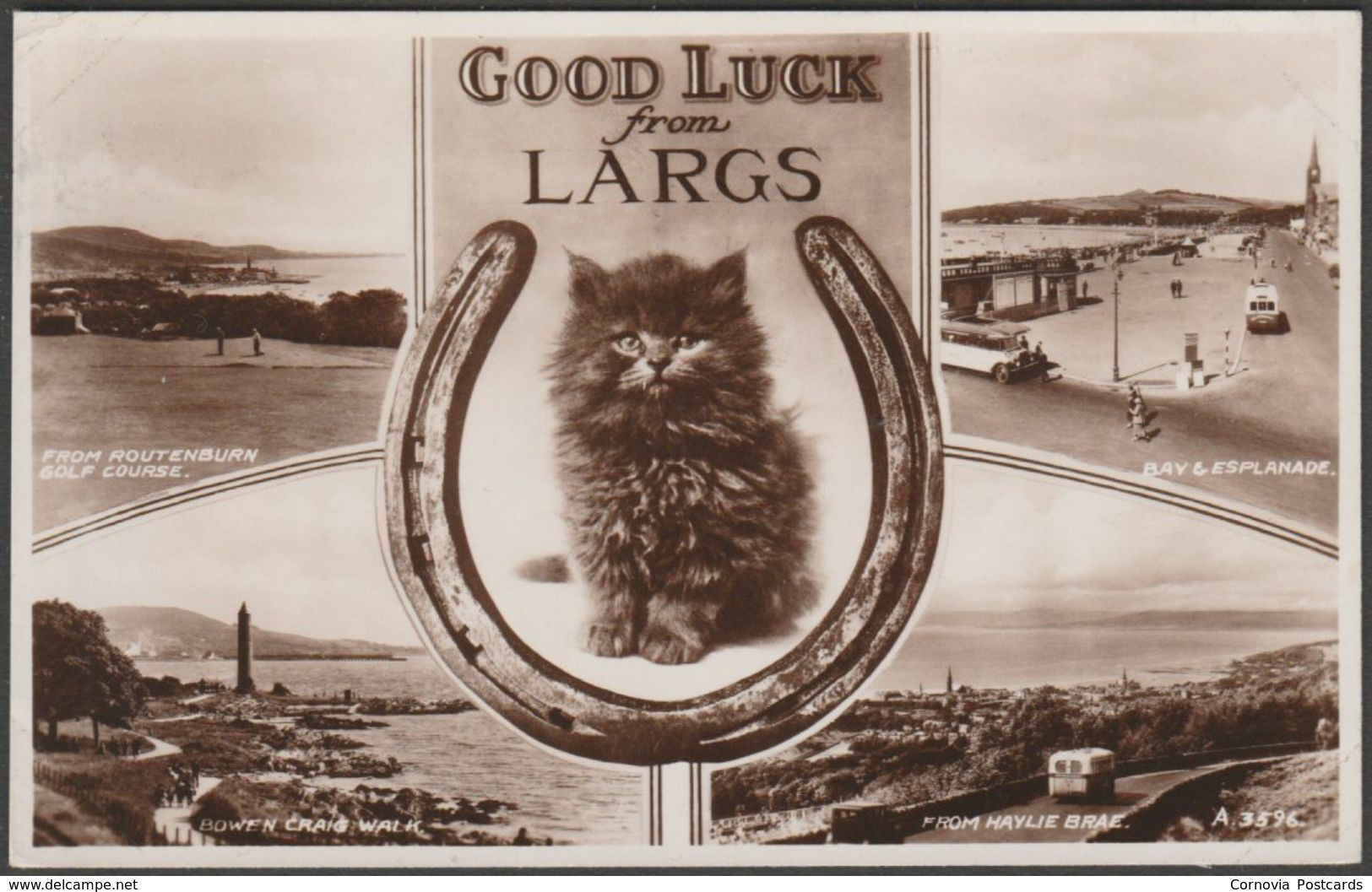 Multiview, Good Luck from Largs, Ayrshire, 1953