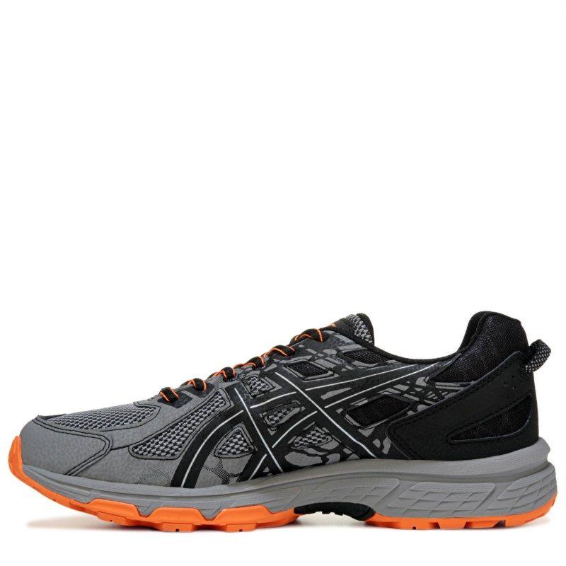 3a60239a5b9d ASICS Men s Gel-Venture 6 X-Wide Trail Running Shoes (Grey Black Orange)