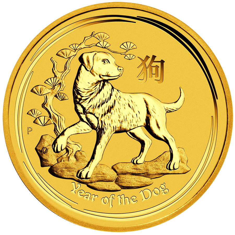 2018 Australian Lunar Dog 1oz Gold Coin Metal Kilo