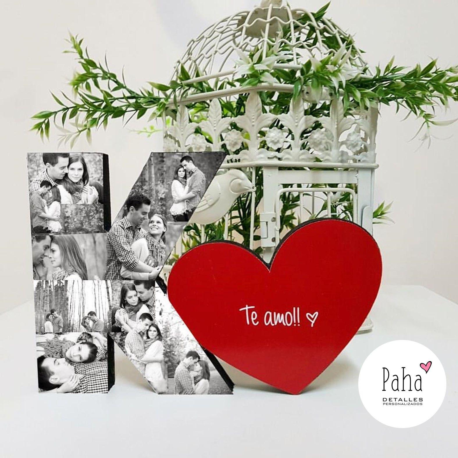 Detalles Regalos Personalizados Fotoletra Amor Love Parejas
