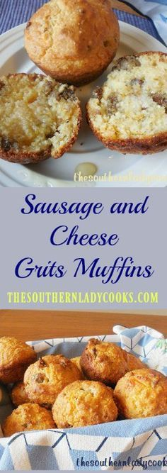 the-southern-lady-cooks-sausage-and-cheese-grits-muffins #hominycasserole the-southern-lady-cooks-sausage-and-cheese-grits-muffins #hominycasserole
