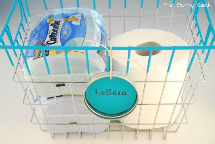 Labeled Vintage Wire Basket: A Bathroom Storage Solution   Vintage ...