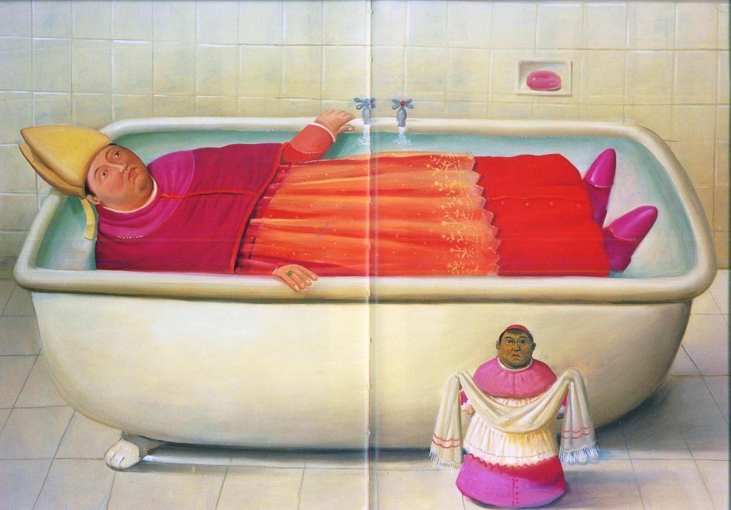 Fernando Botero. Il bagno del Vaticano 2006. Olio su tela cm 147x205 ...