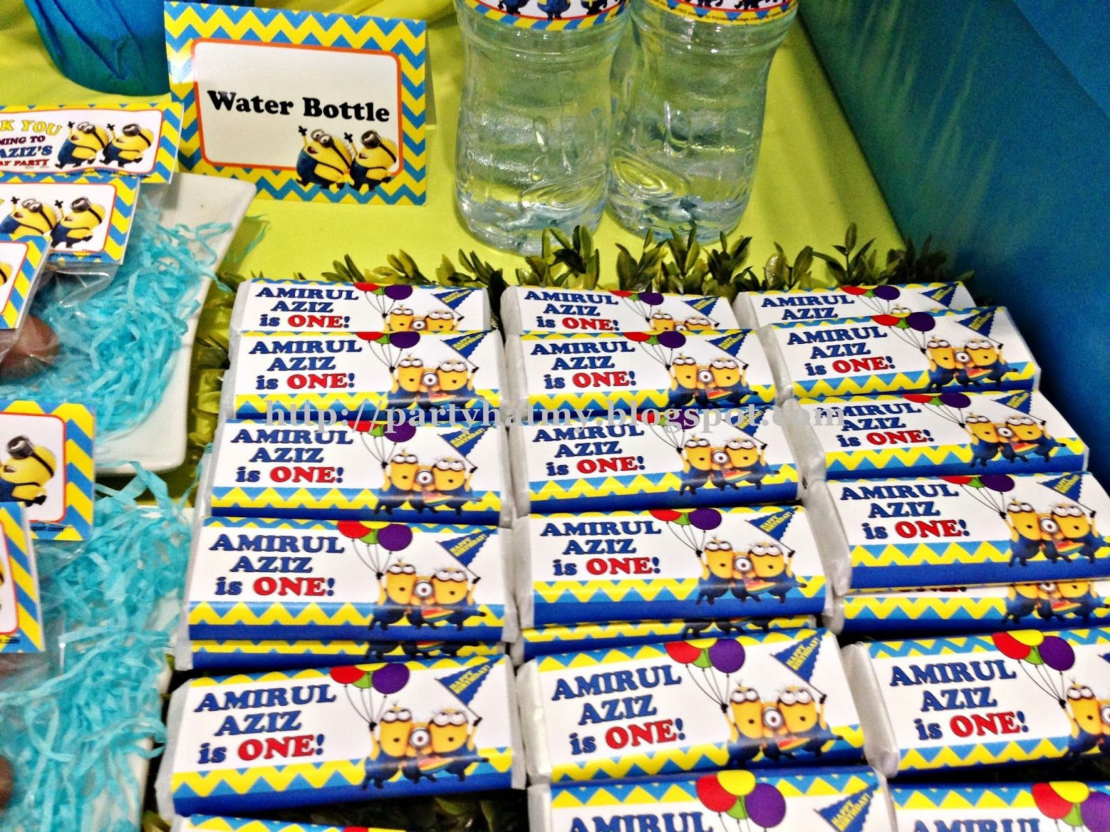 minion candy table Minions 1st Birthday Party Jajas 5th Bday