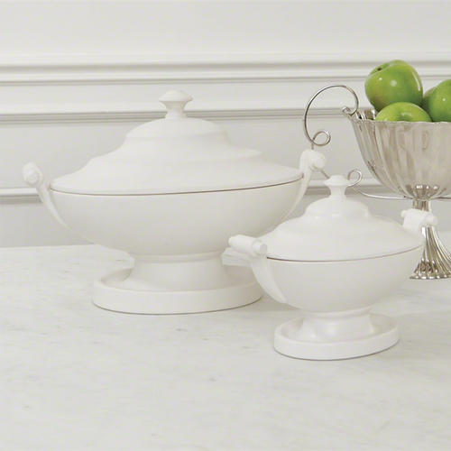Oval Tureen-Matte White-Small - Global Views