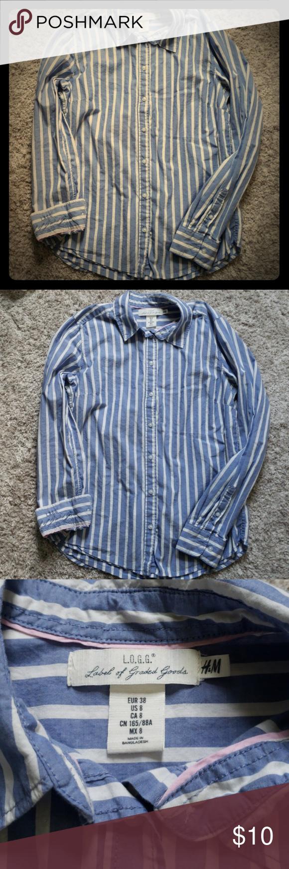 7d760ca2c8 H&M L.O.G.G. button down shirt Size 8 H&M L.O.G.G. button down shirt ...