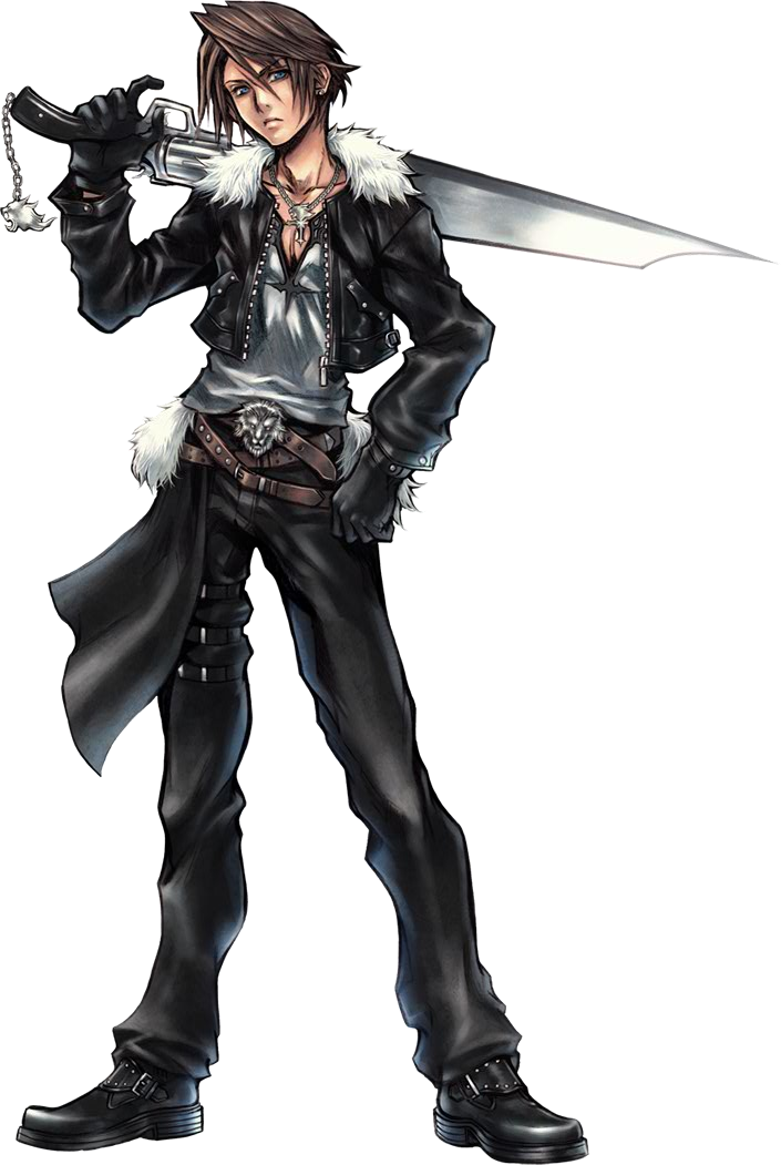 Squall Leonhart 01 Png 600 960 Final Fantasy Characters Final Fantasy Collection Final Fantasy Cosplay