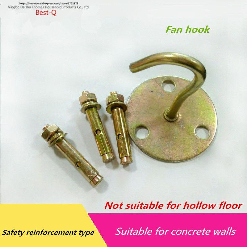 Free Shipping Ceiling Fans Hooks Lights Hooks 3 Hole Hooks Plus 3 Expansion Screws Concrete Wall Ceiling Fan Fan