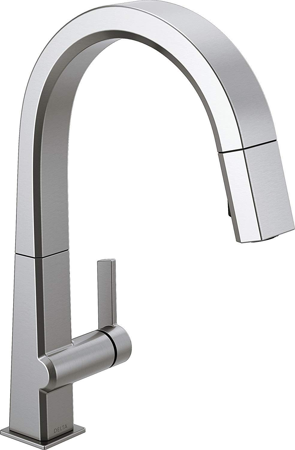 Delta Faucet Pivotal Single Handle Kitchen Sink Faucet With Pull Down Sprayer And Magnetic Docking Spray Head Arctic Stain Kitchen Faucet Delta Faucets Faucet