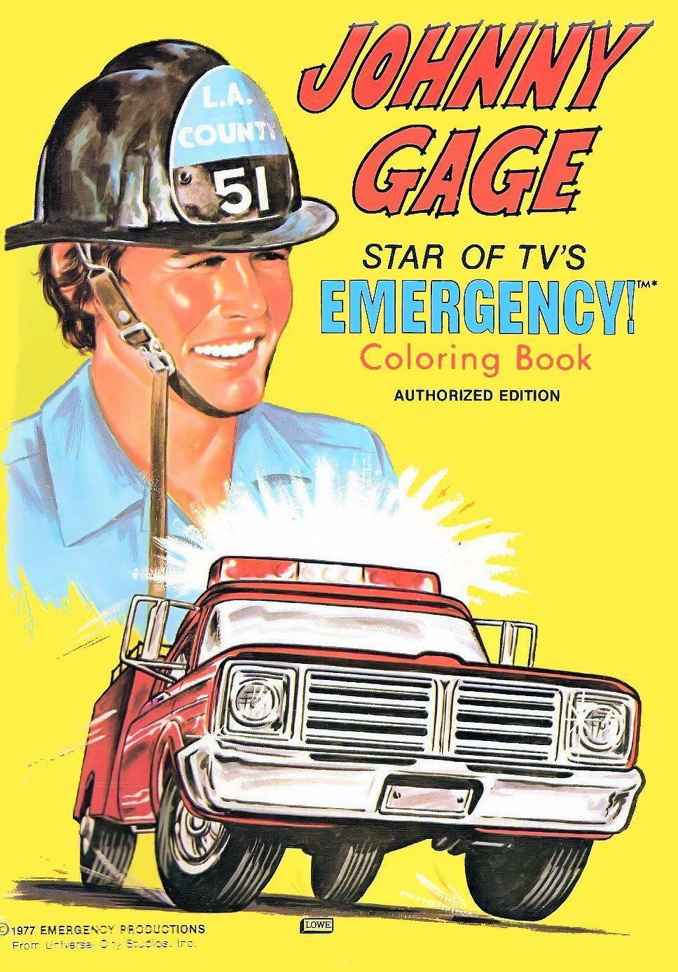 Gage Has His Own Coloring Book So Where Is Chets Would Nt You Want To Color Say Vitamins Well Maybe N Emergency Squad 51 Coloring Books 70s Tv Shows