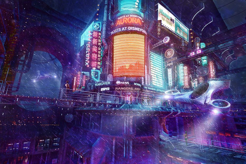 District 48 by ShVan [1000x667] Cyberpunk city