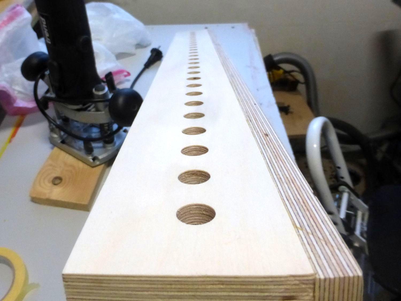 Lochreihenschablone für Regalböden Bauanleitung zum selber bauen ...