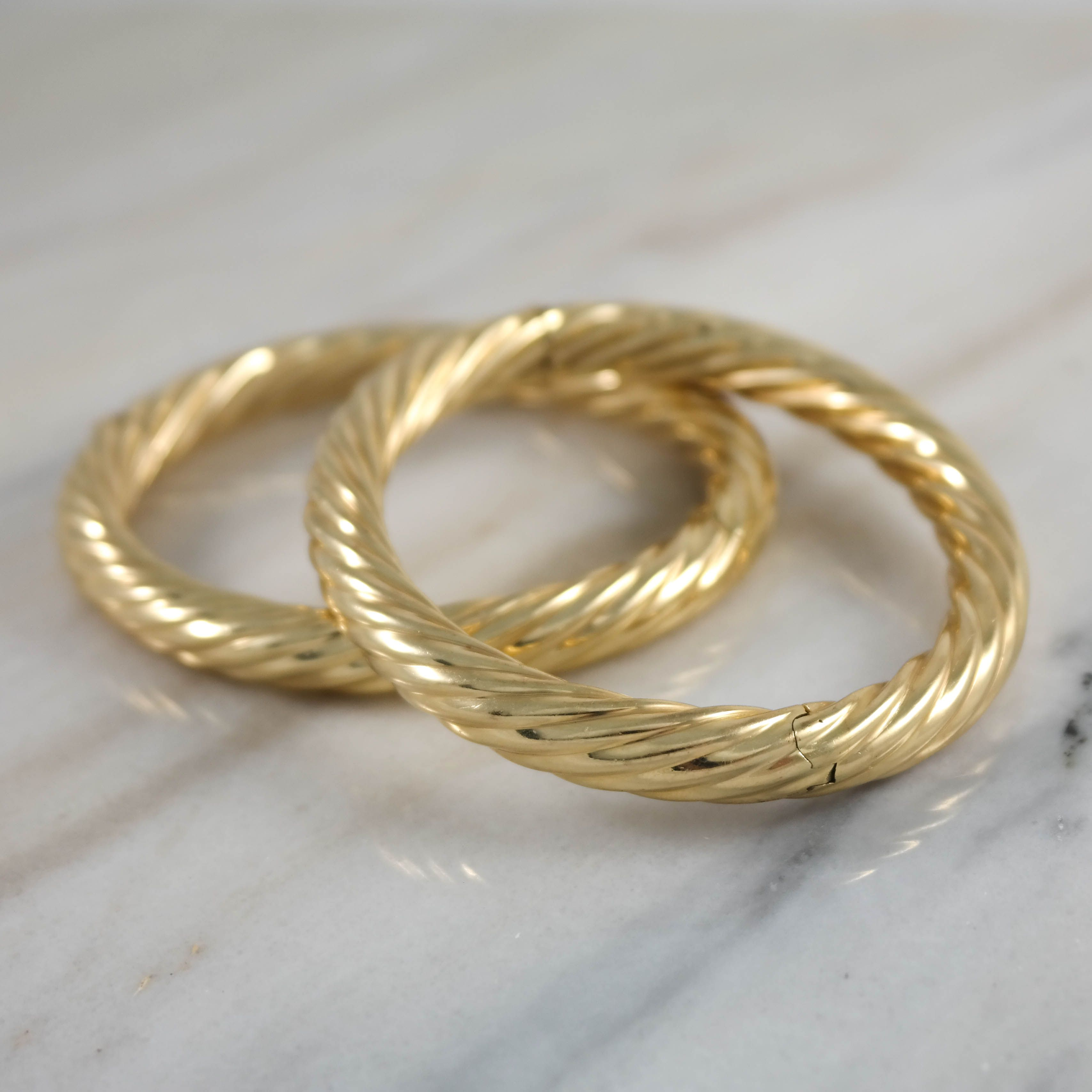 K yellow gold bangle bracelet vintage jewelry pinterest gold