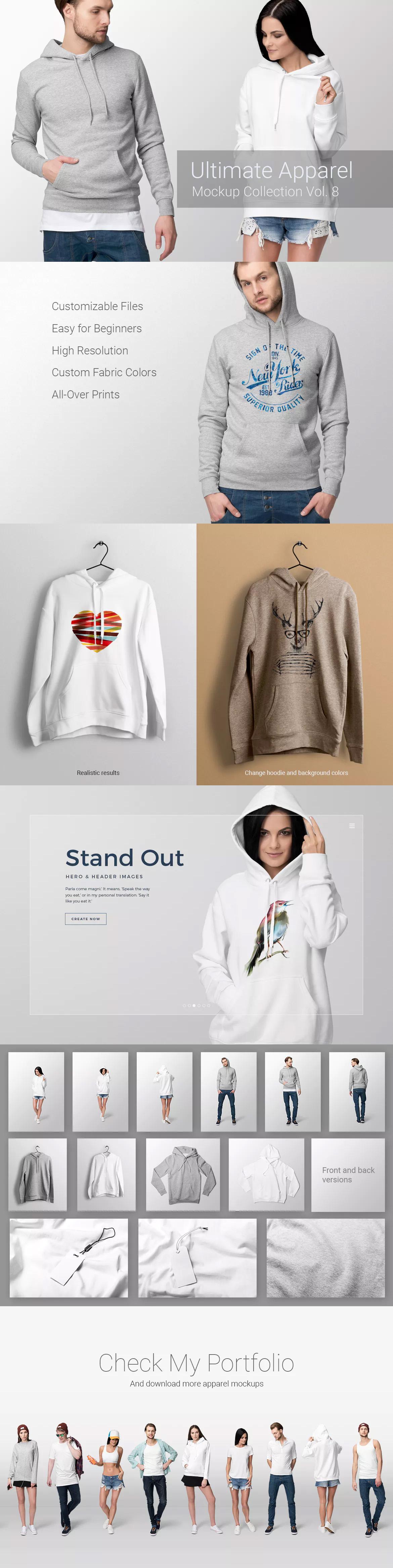 Download Ultimate Apparel Mockup Vol 8 By Genetic96 On Envato Elements Clothing Mockup Apparel Mockup
