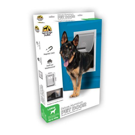 Hakuna Large Deluxe Aluminum Pet Door For Dogs Amp Cats