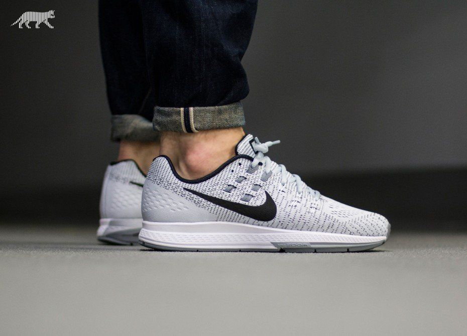 100% authentic 8c603 481ca Nike Air Zoom Structure 19 (Pure Platinum / Black - White ...