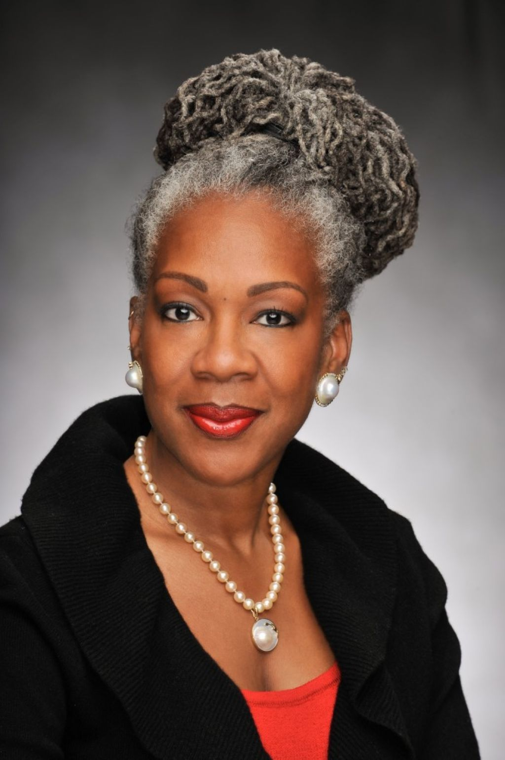 Grey Hair African American Woman Related to African