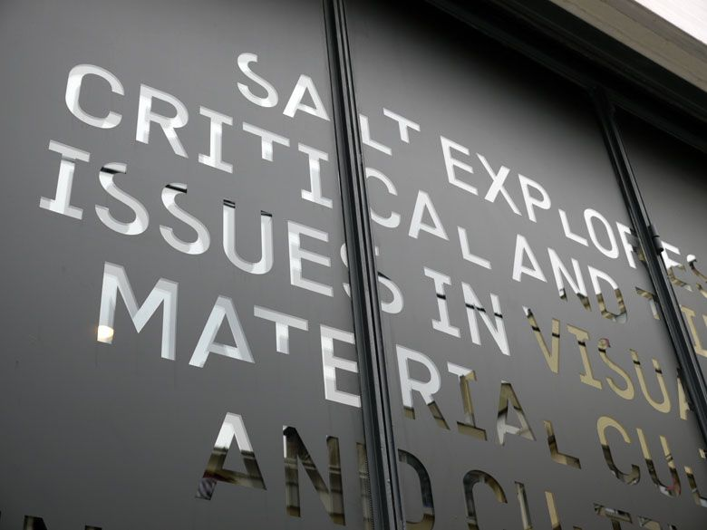 """identity for SALT by project projects. the S, A, L and T are redesigned every four months by a new designer. in the walker show """"graphic design: now in production"""""""