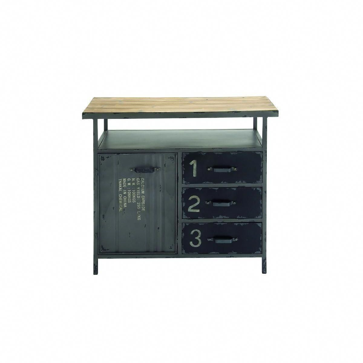 Metal Wood Utility Cabinet 36 Inches Wide X 32 High