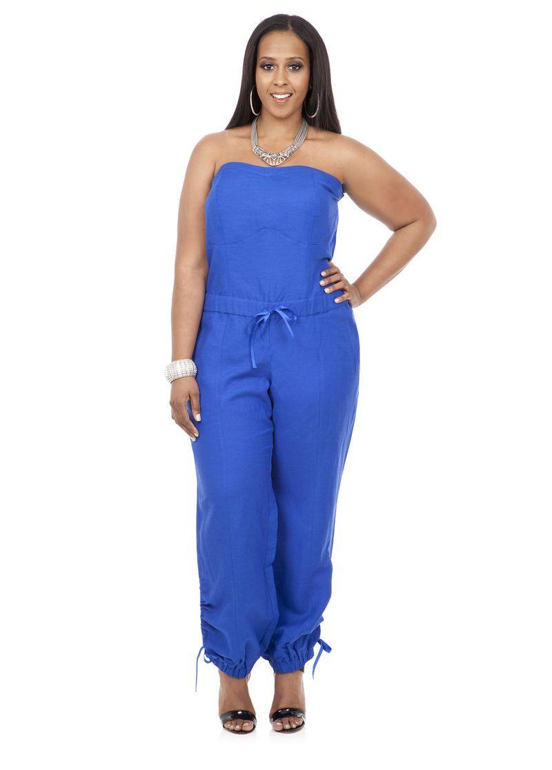 044abd761e6 Strapless Jumpsuit - Ashley Stewart