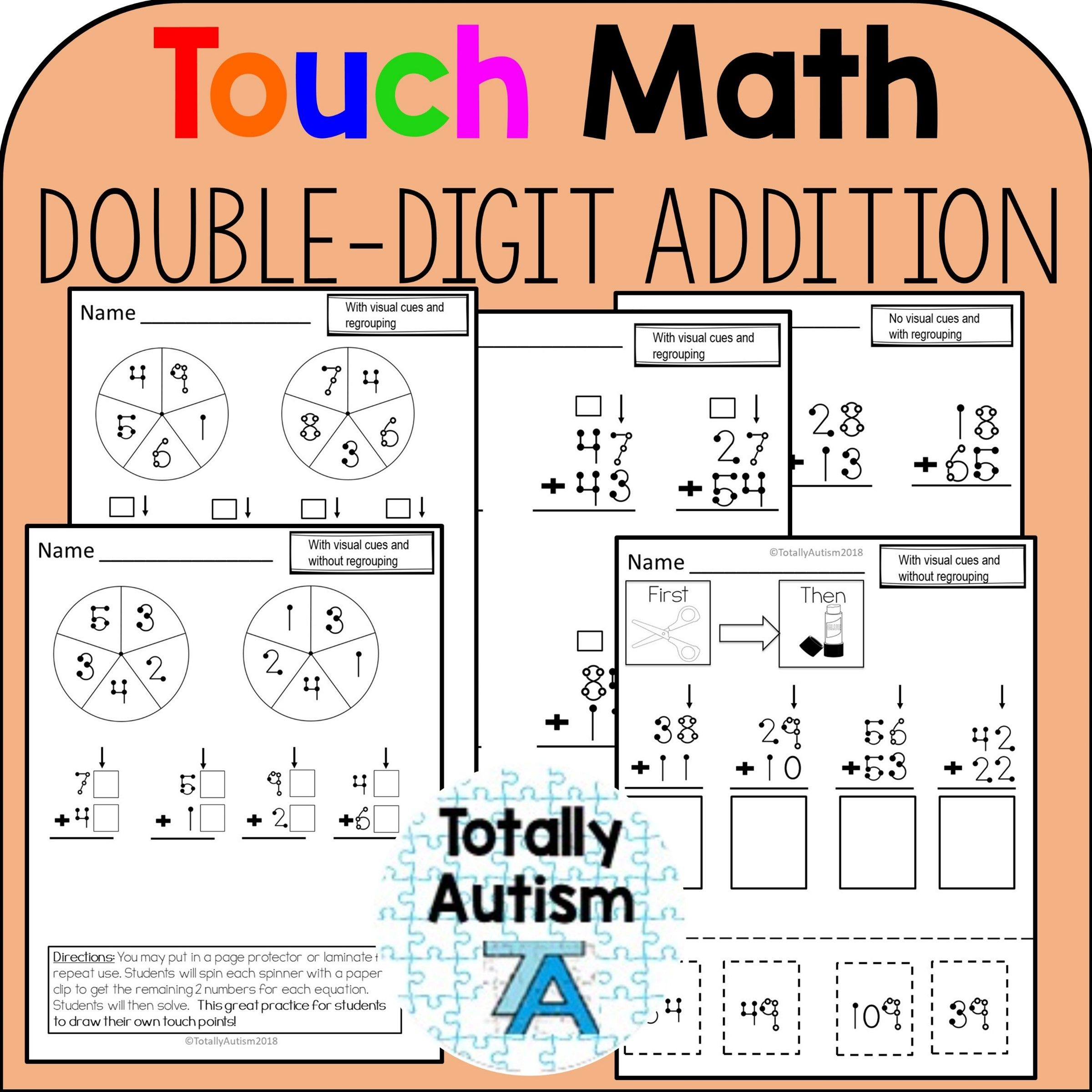 Touch Number Double Digit Addition