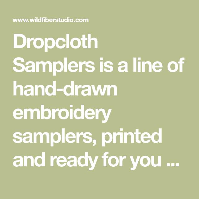 Dropcloth Samplers