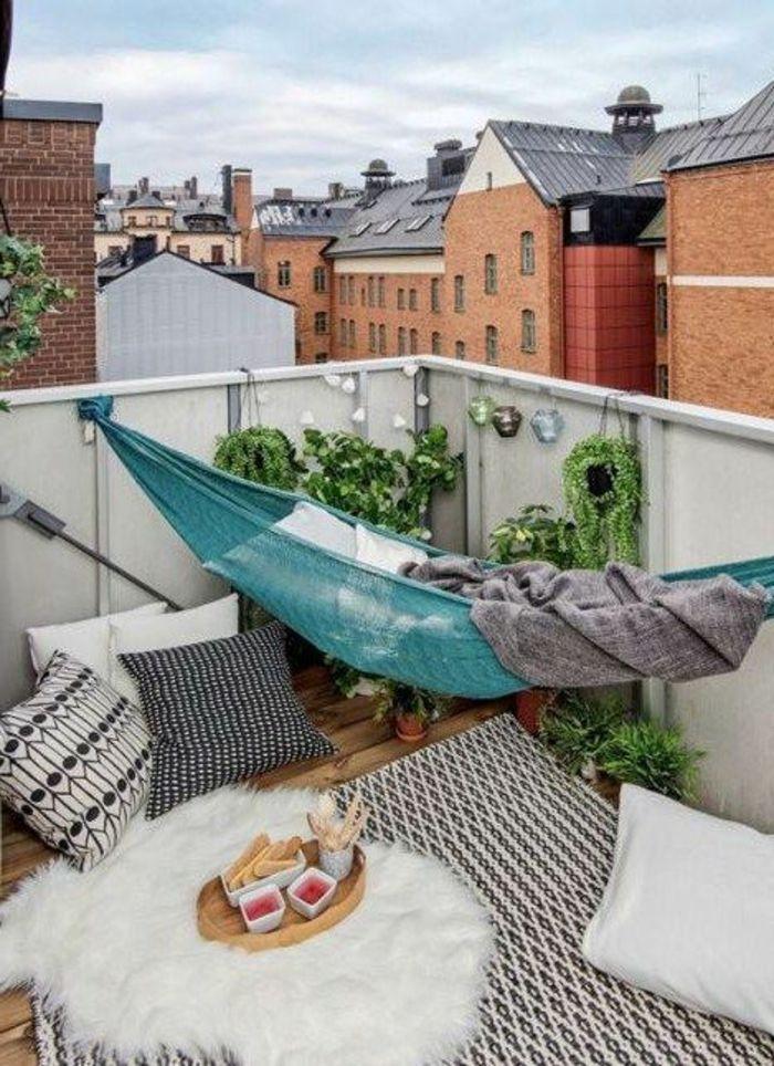 h ngematte balkon und andere einrichtungsideen 15 beispiele wie sie ein kleines paradies. Black Bedroom Furniture Sets. Home Design Ideas